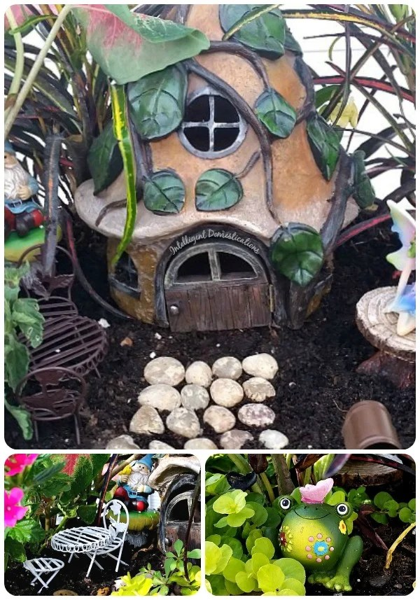 2016 Fairy Garden Tour. Fairy Garden Ideas. Flowers to use in a flower garden. #fairygarden #gnomes #fairygardenideas