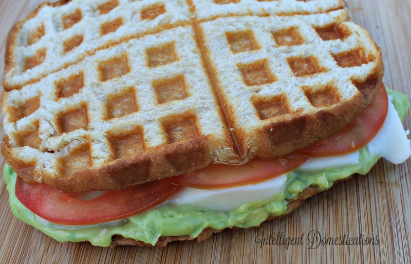 Grilled Tomato & Avocado Sauce Sandwich with Mozerella