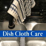 Dish Cloth Care Tips. How to keep your dish cloth stink and stain free. Take better care of the cloth you clean your dishes with using these simple tips. #kitchentips #intellid
