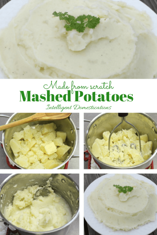 Made from scratch Mashed Potatoes are so easy you can teach the children to do it.