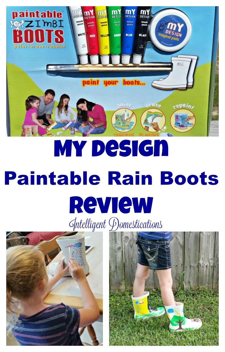 My Design Paintable Rain Boots Review at intelligentdomestications.com