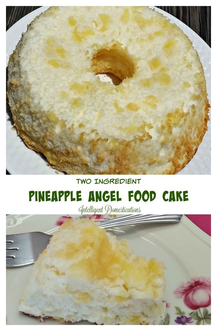 This Two Ingredient Pineapple Angel Food Cake Recipe is so scrumptious, it won't last long. An easy recipe for busy cooks who need a yummy dessert