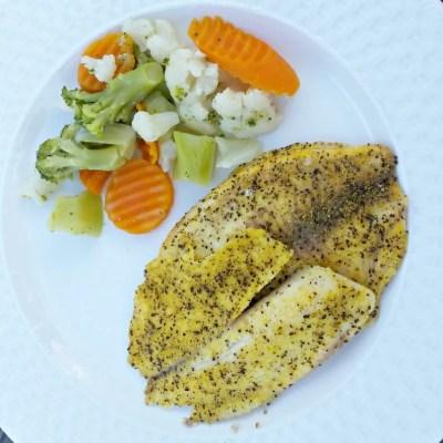 Lemon Pepper Baked Tilapia & Menu Plan 23