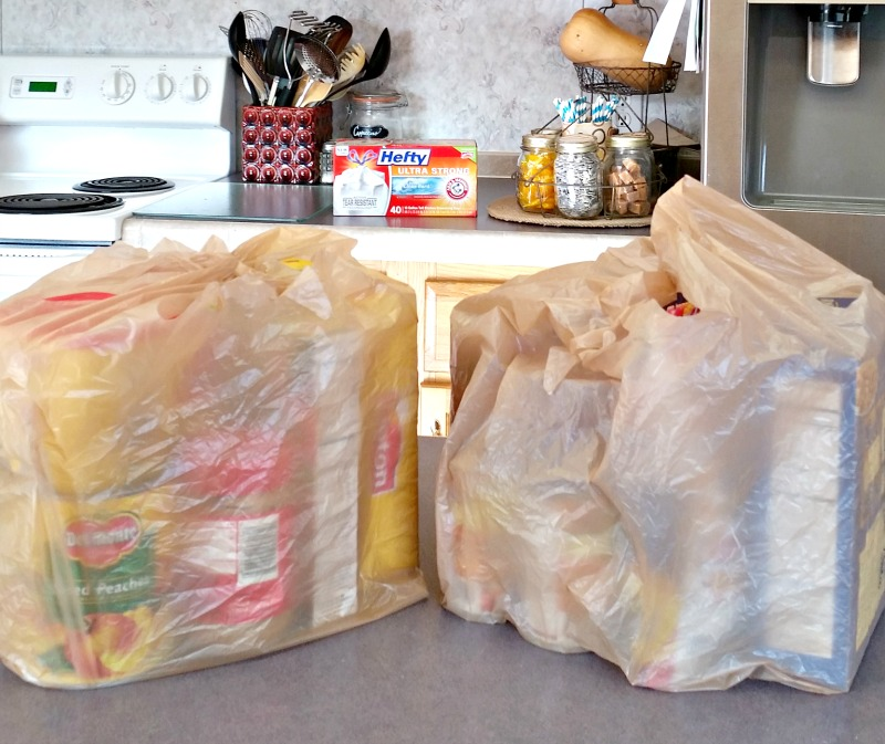 groceries sitting on the kitchen counter still in bags