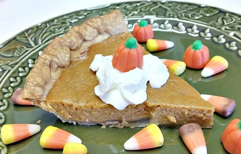 Classic Pumpkin Pie easy recipe. No mixer required. Just stir by hand. This recipe makes two thin pies. #pumpkindessert #Thanksgivingfood
