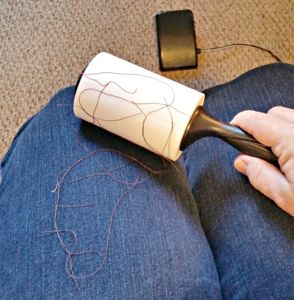 Cleaning supplies needed in the craft room. Craft room cleaning supplies. A lint roller is a handy cleaning tool in the sewing room.