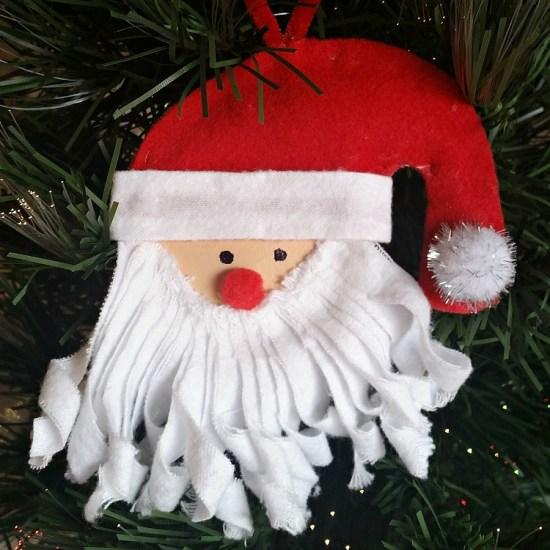 DIY Mason Jar Lid Santa Ornament