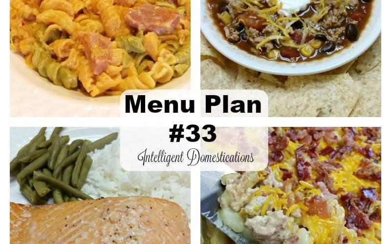 Menu Plan #33