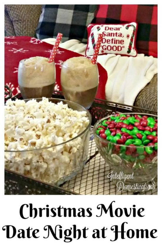 Christmas Movie Date Night at Home Ideas
