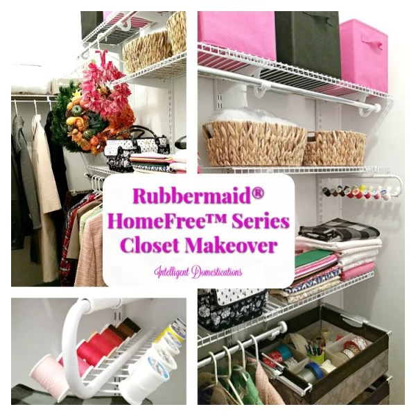 How to organize a closet. Closet organization using the Rubbermaid HomeFree Series