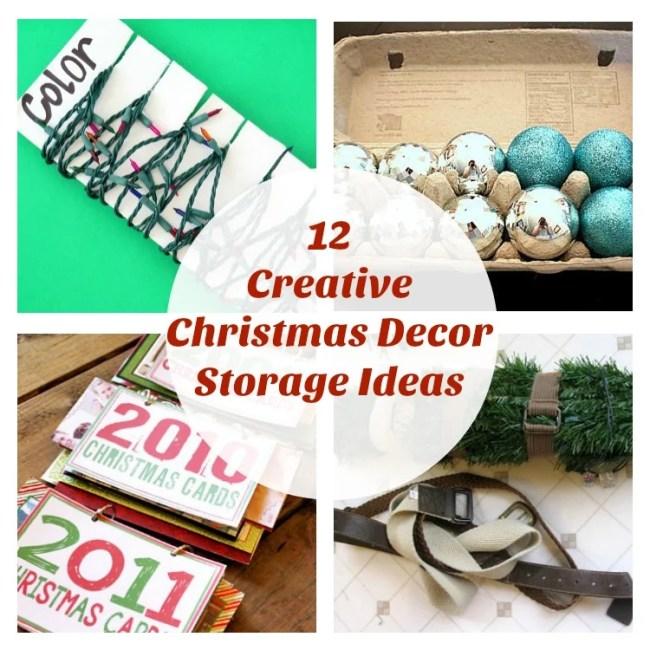 12 Creative Christmas Decor Storage Ideas