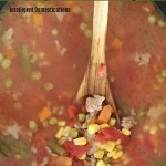 How to make Homemade Vegetable Soup in the Crockpot. Slow Cooker Homemade Vegetable Soup easy recipe. Made from scratch Vegetable Soup recipe. #crockpotsoup #intellid