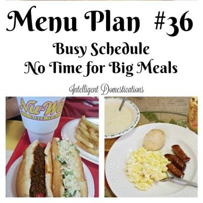 Menu Plan #36 No Time To Cook!