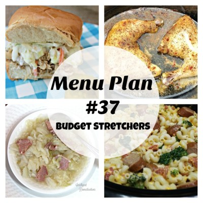 Menu Plan #37 Budget Stretchers