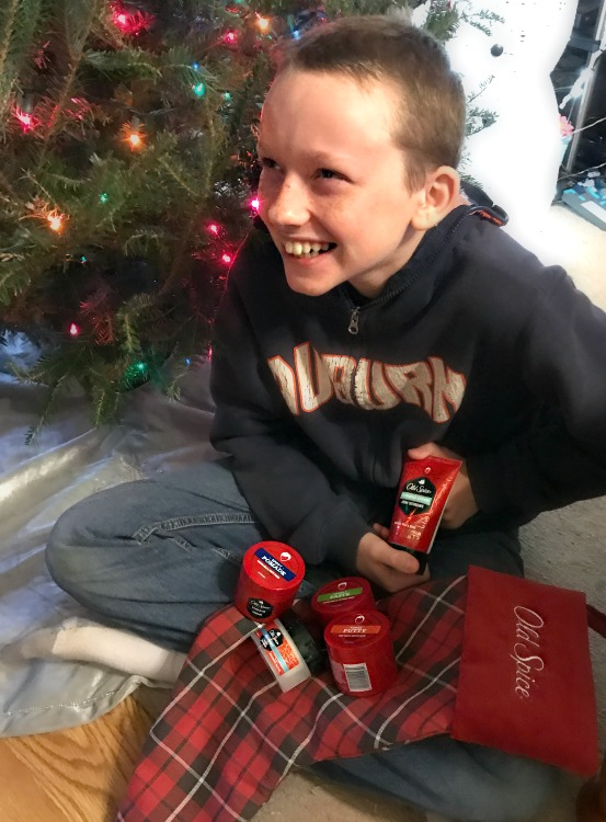 my-tween-grandson-is-happy-to-receive-a-nice-collection-of-old-spice-hair-care-products-in-his-old-spice-christmas-stocking