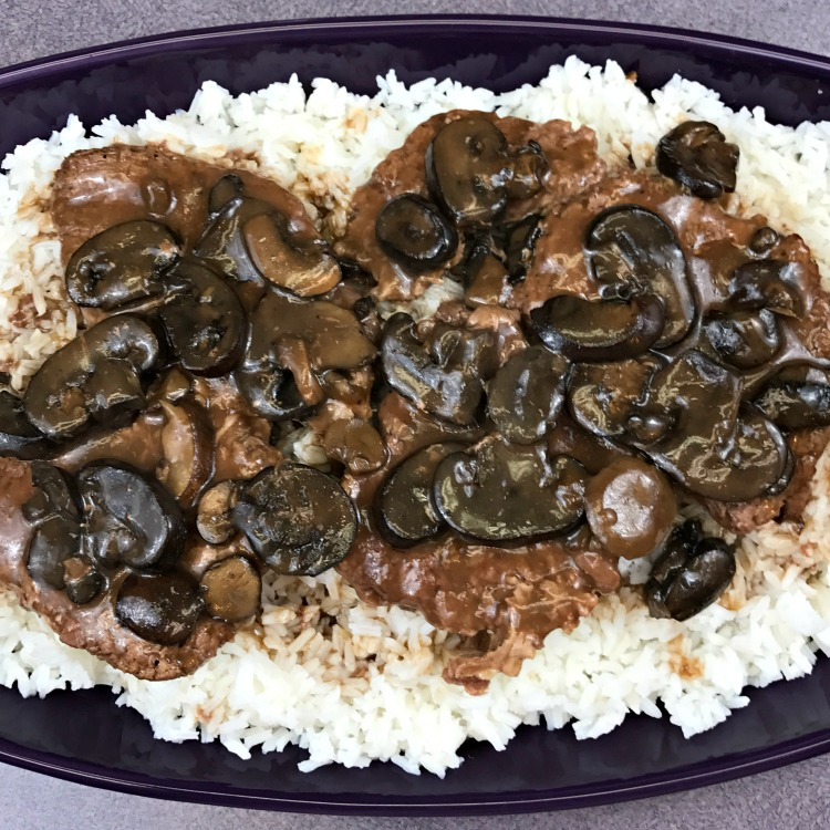 Crockpot Cube Steak and Mushroom Gravy