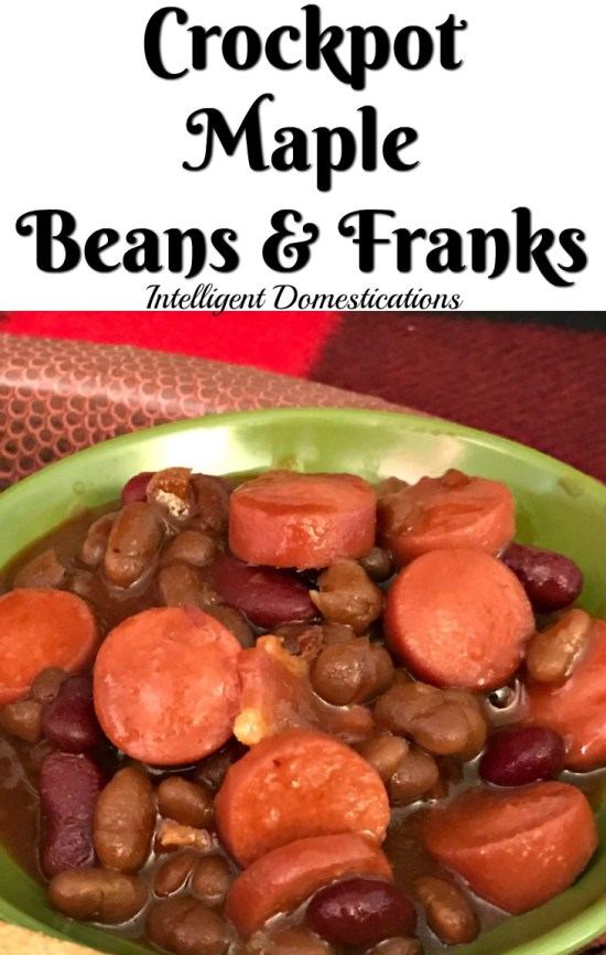 Crockpot Maple Beans and Franks. Beanie Weinies. How to cook hot dogs with baked beans in the Crockpot