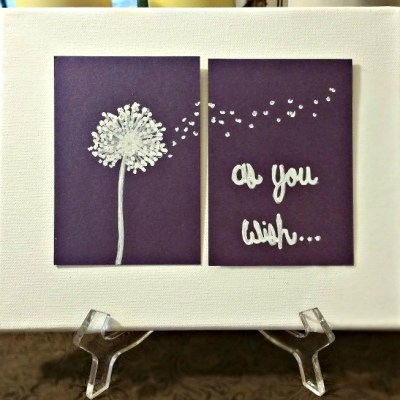 How To Make Blowing Dandelion Canvas Art