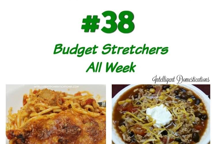 Menu Plan #38 Budget Stretchers All Week