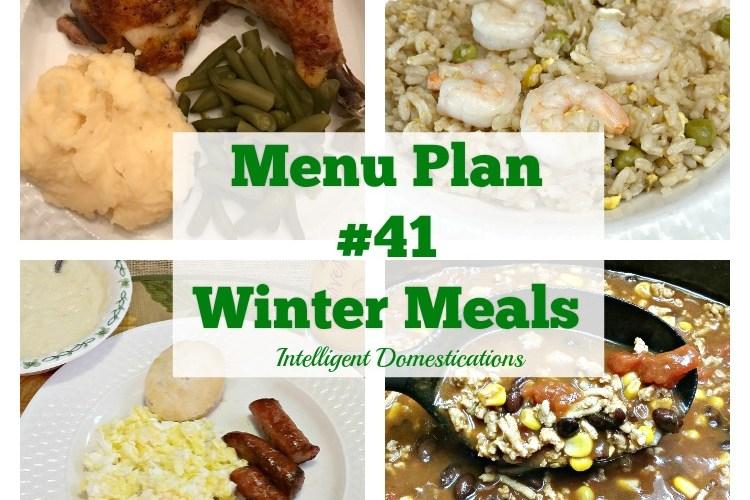 Menu Plan #41 Winter Meals
