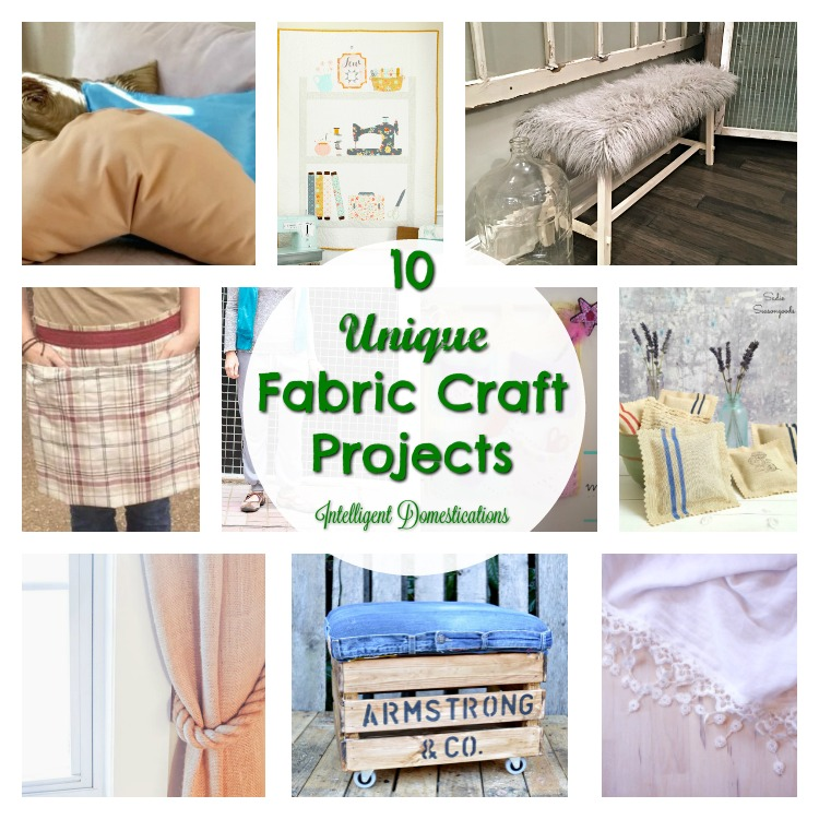 10 Unique Fabric Craft Projects And Merry Monday Link Up 141