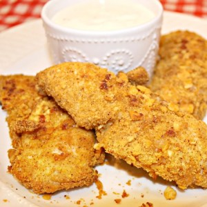 Cheeze-It Crusted Baked Chicken Tenders