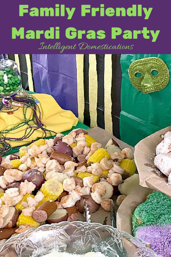Family Friendly Mardi Gras party ideas. See all the fun and where to snag your supplies at Intelligent Domestications