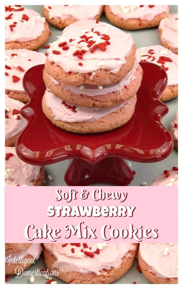 Soft and Chewy Strawberry Cake Mix Cookie recipe