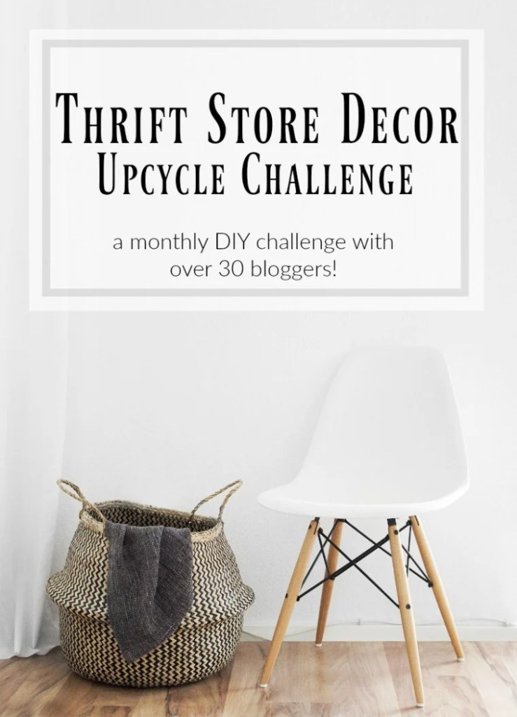 Home decor DIY projects using thrifted items from thrift stores, yard sales, estate sales and flea markets.