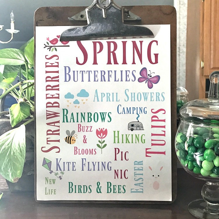 Spring Subway Art Free Printable