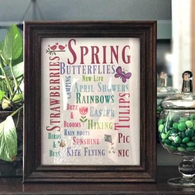 Spring Subway Art Free Printable