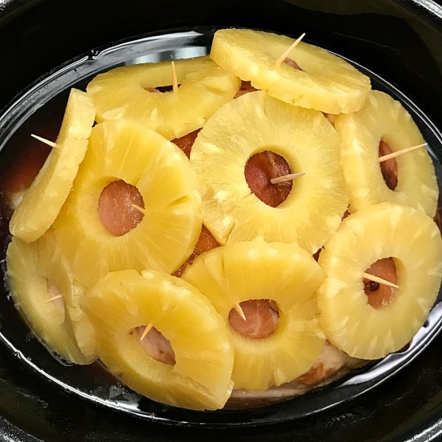 Crockpot Brown Sugar and Pineapple ham recipe. Turn a classic ham into a delicious and beautiful holiday dish.