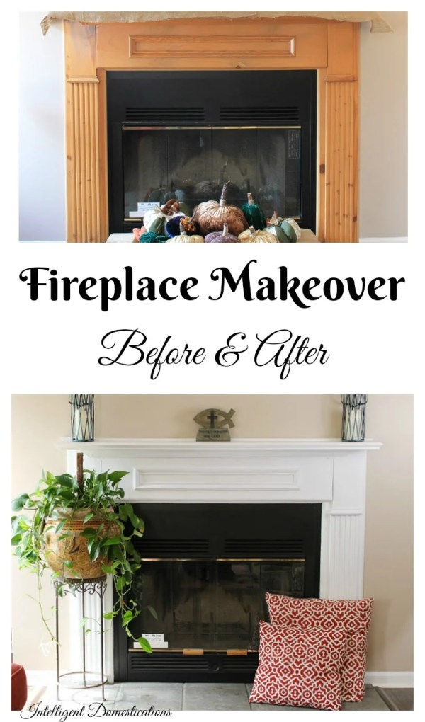 Fireplace-Makeover-Before-and-After-pictures.-We-painted-our-natural-wood-fireplace-white-and-love-it.-See-the-Before-and-After-to-help-you-decide-if-you-should-paint-your-fireplace-too