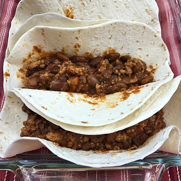 Easy Beef & Bean Burritos made from scratch recipe. Beef and Bean Burritos. Taco Tuesday weeknight meal idea