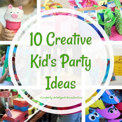 10 Creative Kids Party Ideas & Merry Monday Link Party #158