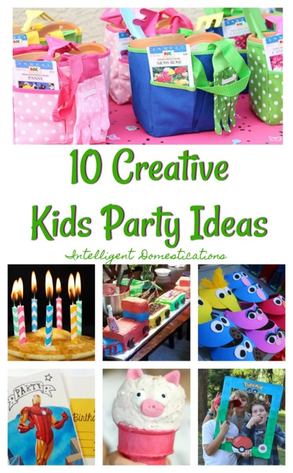 10 Creative Kid's Party Ideas. This collection contains unique and different ideas for kid's parties.