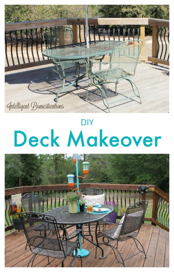 How we made over our deck with weekend projects for an updated gorgeous outdoor space.