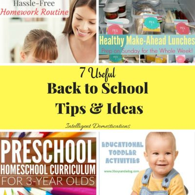 Back To School Tips and Ideas Plus Merry Monday Link Up #167
