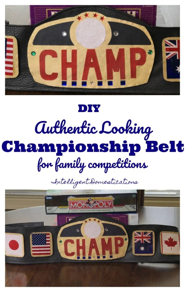 How To Make An Authentic Looking Championship Belt for family competitions. DIY Championship Belt. How to make your own championship belt. Craft a Championship Belt for family competitions. #Championshipbelt