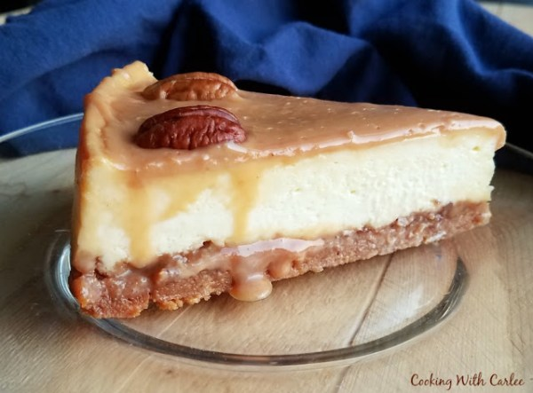 Kathy's Caramel Pecan Cheesecake from Cooking with Carlee