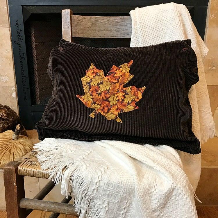 Diy Corduroy Fall Leaf Pillow Intelligent Domestications