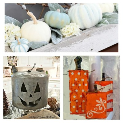 10 Unique DIY Pumpkin Ideas & Merry Monday Link Up Party #172