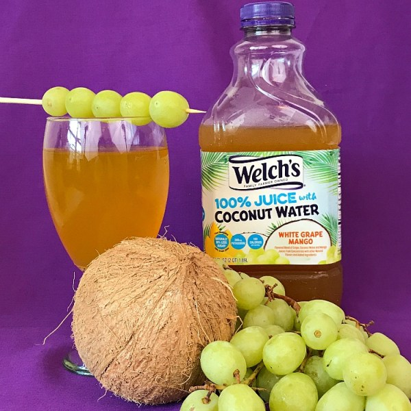 Welch's 100% Juice White Grape Mango with Coconut water. You new way to drink delicious coconut water. Juice with coconut water.
