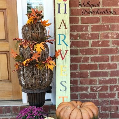 Reclaimed Wood Harvest Porch Sign