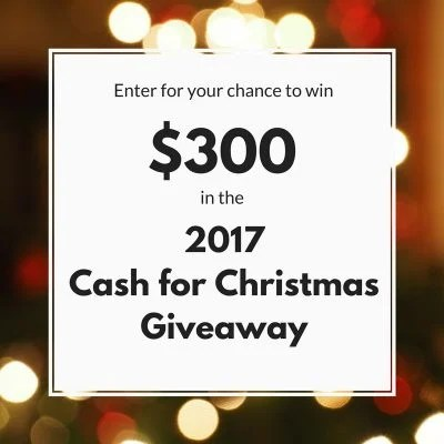 $300 Cash For Christmas Giveaway