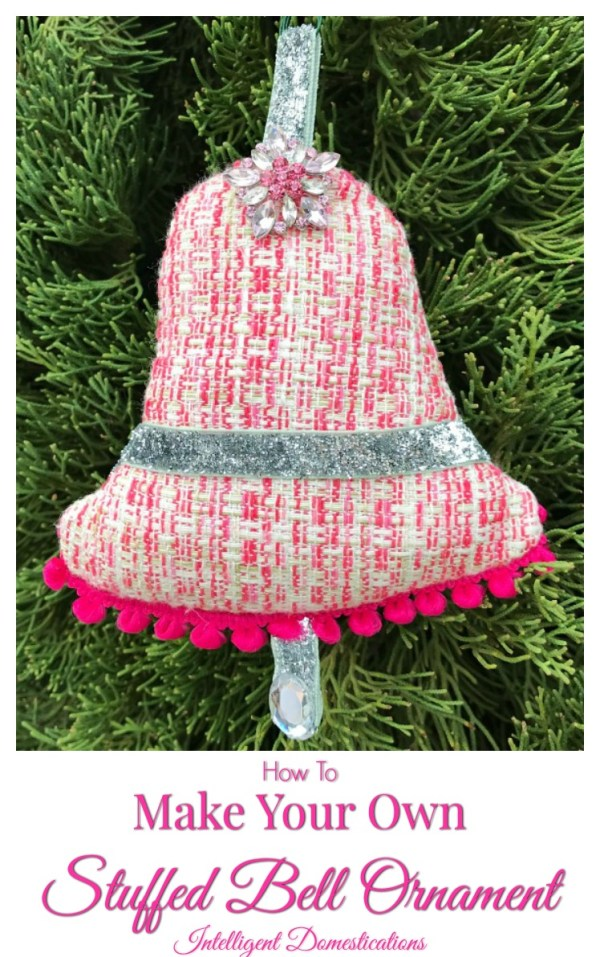 How To Sew Your Own Brocade Bell Christmas Ornament. Make your own Christmas Bell ornament.