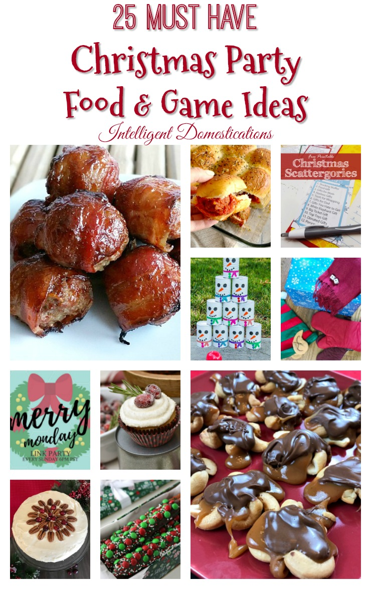 25 Must Have Christmas Party Food and Game Ideas. Merry Monday Link up Party Features. Recipes for your Christmas party. Family Friendly Party Games