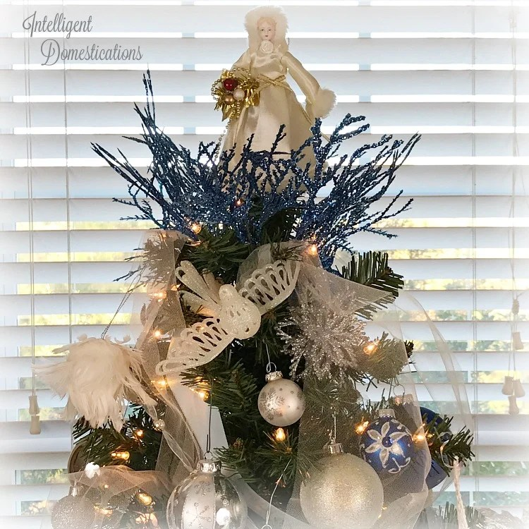 Blue and White Christmas Tree Decorations , Intelligent