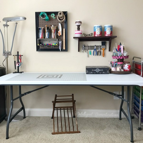 My Craft Space Makeover. Craft space makeover reveal.