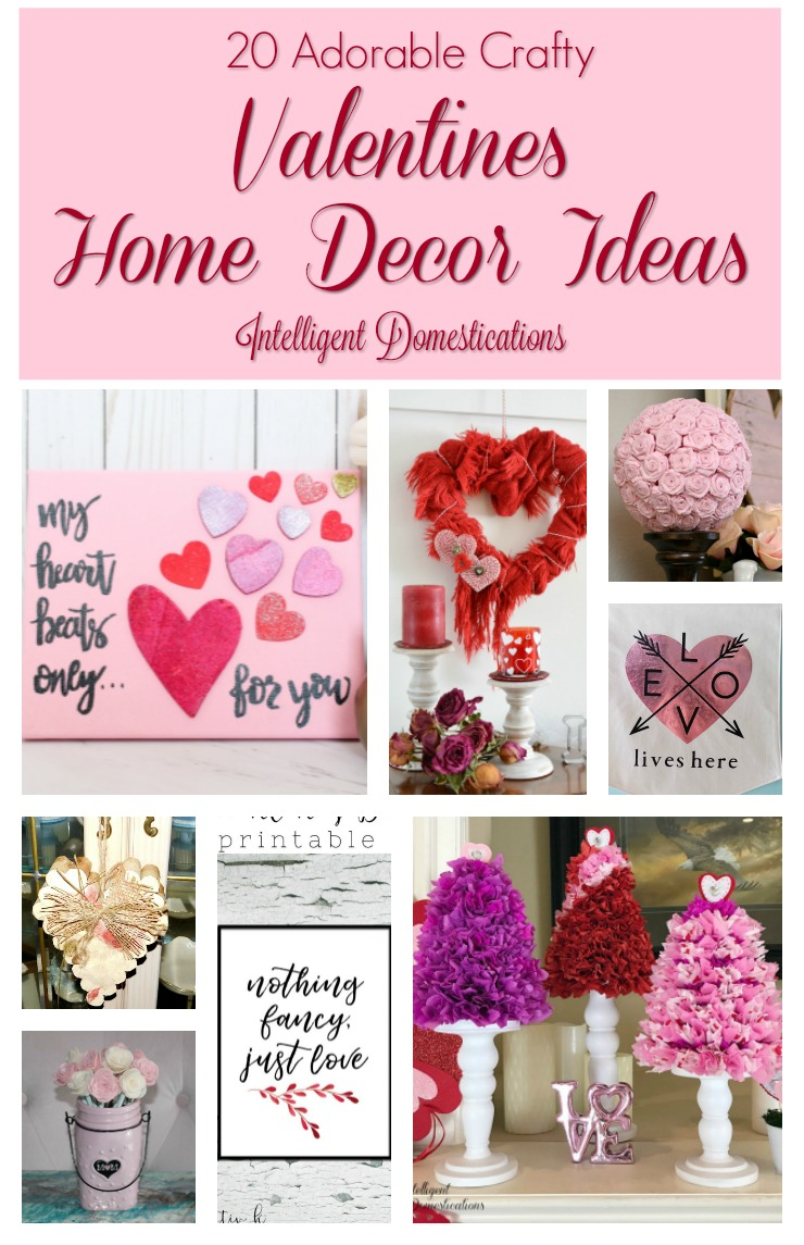 Adorable Crafty Valentine Home Decor Ideas. DIY Valentine's Home Decor. Merry Monday 191 Features